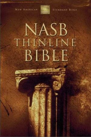 NASB Thinline Bible-Brg Bond