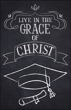 Bulletin-Live In The Grace Of Christ (Graduation) (Pack Of 100) (Pkg-100)
