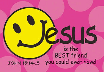 "Cards-Pass It On-Jesus Is The Best Friend w/Smiley Face (3""x2"") (Pack of 25)"