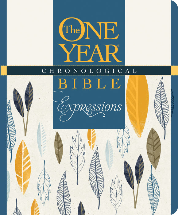 NLT2 One Year Chronological Bible Creative Expressions-Deluxe Blue Hardcover