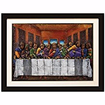 Framed Relief Art-Last Supper (39 x 29)