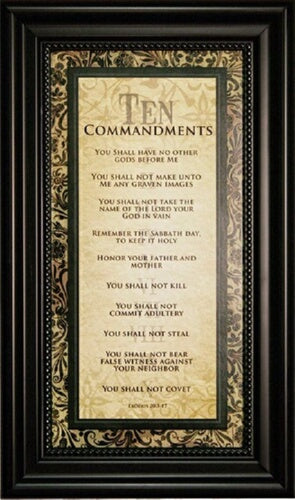 Wall Art--Ten Commandments