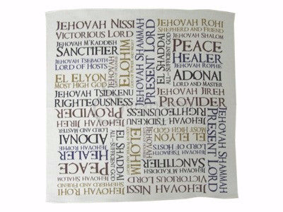 Prayer Cloth Names Of God Pk 6