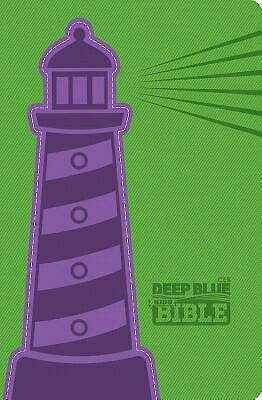 CEB Deep Blue Kids Bible-Green/Purple Lighthouse D