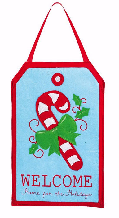 Door Hanger-Candy Cane-Felt