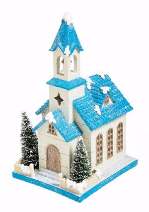 Home Decor-Light Up Holiday Church (For Indoor Or
