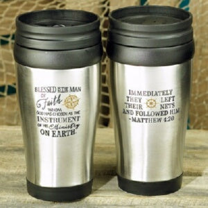 Travel Mug-Blessed Is The Man (14 Oz)