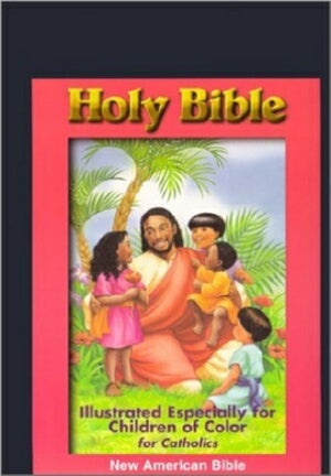 NAB Children Of Color Bible-Black Imitation Leathe