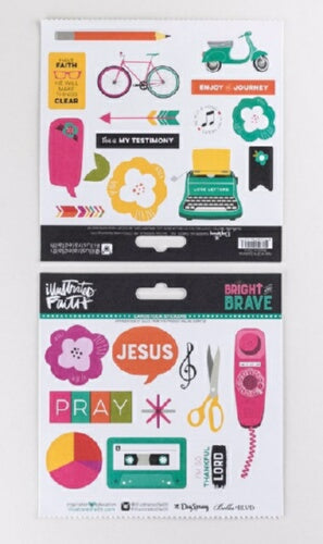 Bible Journaling-Cardstock Stickers-Bright & Brave