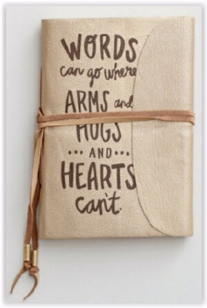 Village Artisan/Words Can Go w/Leather Tie Journal