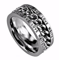 Chain-True Love Waits (Mens)-Sz 12 Ring