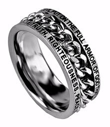 Chain-Armor Of God (Mens)-Size 14 Ring