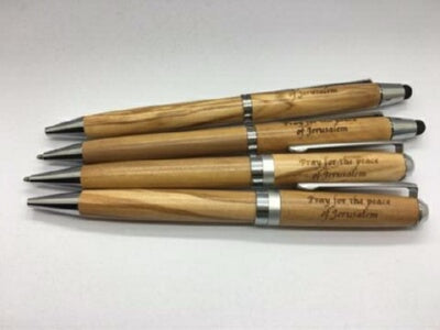 Olive Wood Inscribed w/Pray For The Peace Of J Pen