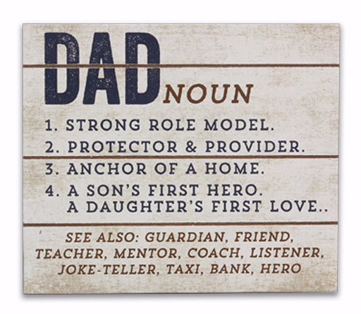 "Box Sign-Definition Of DAD (6.25"" x 5"")"