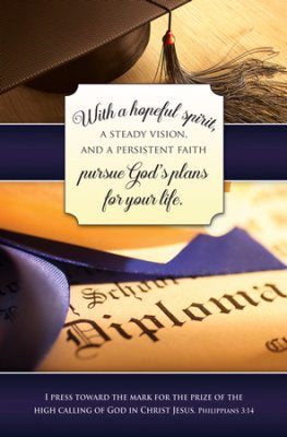 Bulletin-With A Hopeful Spirit (Philippians 3:14) (Graduation) (Pack Of 100) (Pkg-100)