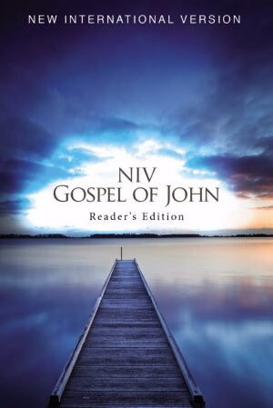 NIV Gospel Of John Reader's Edition (Blue Pier)-So