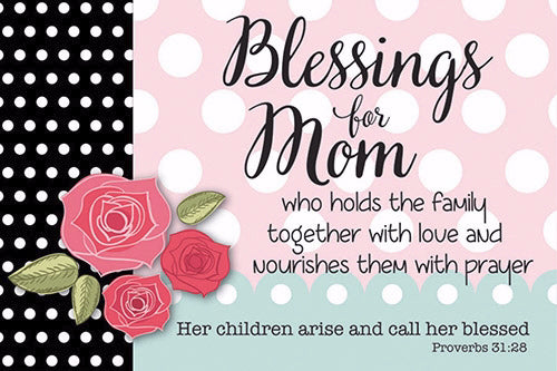 "Cards-Pass It On-Blessings For Mom (3""x2"") (Pack of 25) (Pkg-25)"