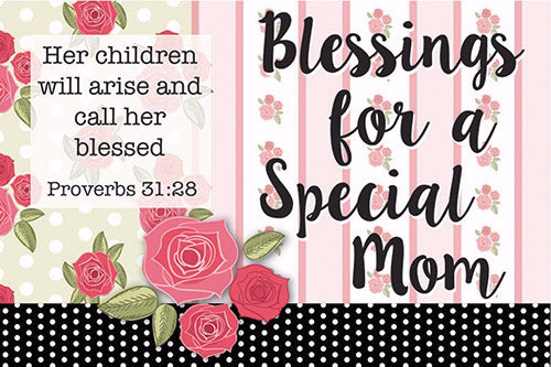 "Cards-Pass It On-Blessings Special Mom (3""x2"") (Pack of 25) (Pkg-25)"