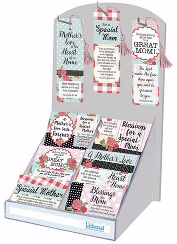 "Pass It On Cards And VerseMarks-Mother's Day w/Display (11"") 9 Asst (336 Pieces) (Pkg-336)"