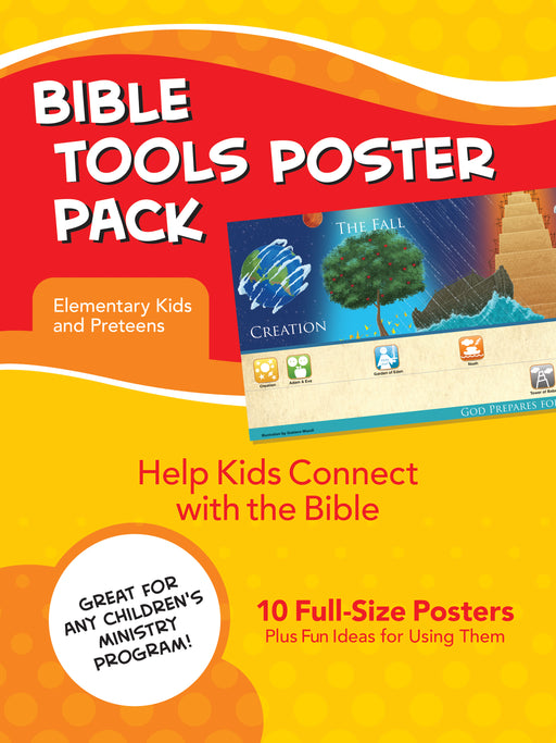 Bible Tools Poster Pack For Elementary Kids (Set Of 10)