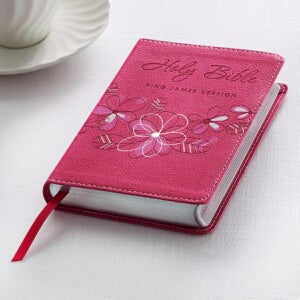 KJV Compact Bible-Pink LuxLeather