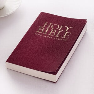 KJV Gift And Award Bible-Burgundy Softcover