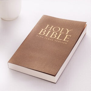 KJV Gift And Award Bible-Antique Gold Softcover