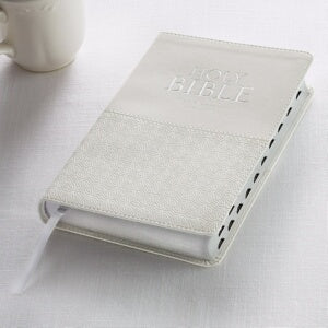 KJV Standard Size Gift Edition Bible-White LuxLeat