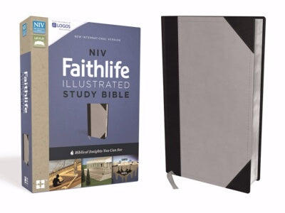 NIV Faithlife Illustrated Study Bible-Gray/Black L