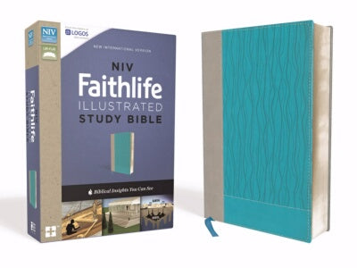 NIV Faithlife Illustrated Study Bible-Gray/Turquoi