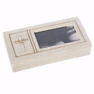 "Keepsake Box-Confirmation w/Cross (1.75"" H)"