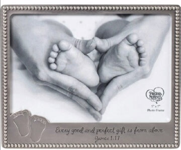 Photo Frame-Baby Footprints (Holds 5 x 7 Photo)