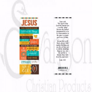 Bookmark-Names Of Jesus (Pack Of 25)