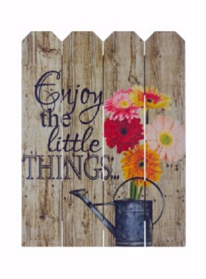 Rustic Pallet Art-Enjoy The Little Things (9 x 12)