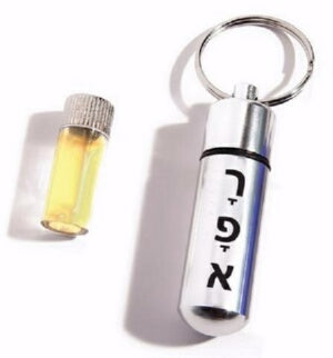 Anointing Oil Holder (Raphe/Healer)-Silv Key Chain