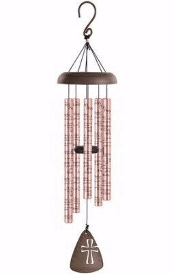 "Wind Chime-Sonnet-Lords Prayer-Rose Gold (30"")"