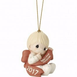 "Ornament-Baby's First Christmas 2017-Boy (2.75"")"