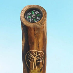 "Walking Stick w/Compass & Pouch-Tree (48"")"