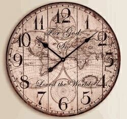 Wall Clock-For God So Loved The World (23.5 x 23.5