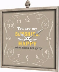 Wall Clock-You Are My Sunshine (15.75 x 17.75)