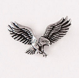 Lapel Pin-Landing Eagle-Pewter