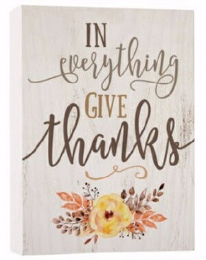 Barnhouse Block-In Everything Give Thanks (5.5 x 7