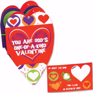 You Are God's One-Of-A-Kind Valentine Booklet w/Stickers