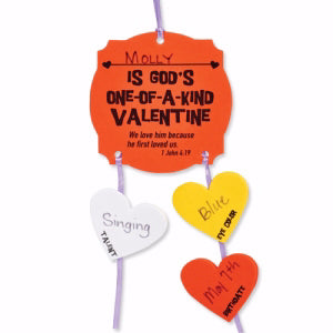 Foam Activity Kit-You Are God's One-Of-A-Kind Valentine Picture Frame