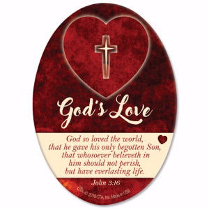 God's Love Oval Magnet (15-DEC-18=PUB O/S*)