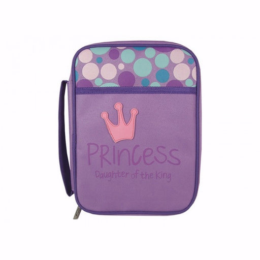 Bible Cover-Kids-Canvas w/Rubber Patch-Princess: Daughter Of The King-Medium-Purple