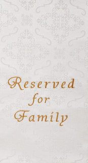 Pew Cloth-Embroidered Jacquard Reserved-Family-White