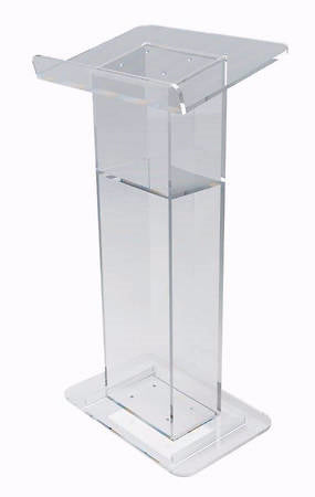 Lectern-Acrylic-U-Shaped with Shelf