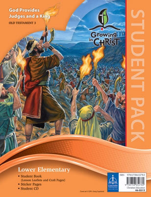 Growing In Christ Sunday School: Lower Elementary-Student Pack (OT3) (#460312)