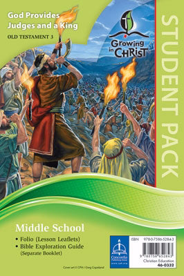 Growing In Christ Sunday School: Middle School-Student Pack (OT3) (#460332)